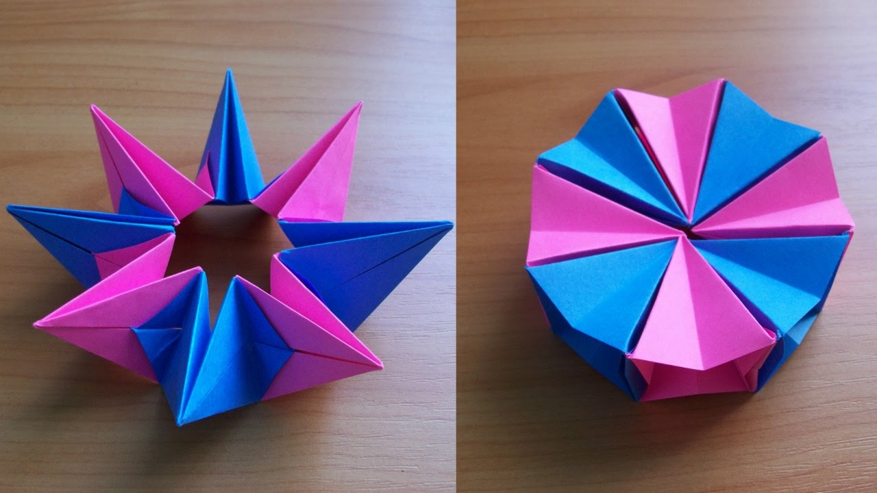 DIY How To Fold An Easy Origami Magic Circle Fireworks Fun Paper Toy Not Only For Kids