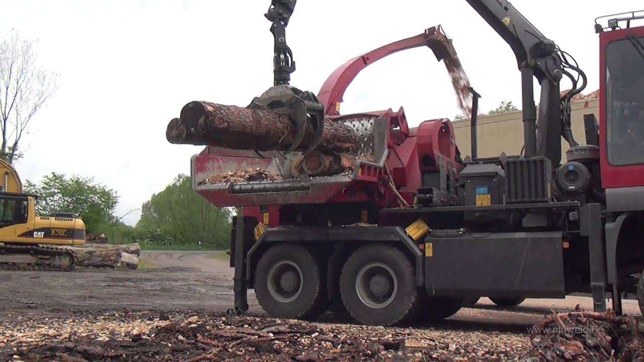 Berühmt Holz schreddern mit schwerem Gerät - YouTube &SP_93