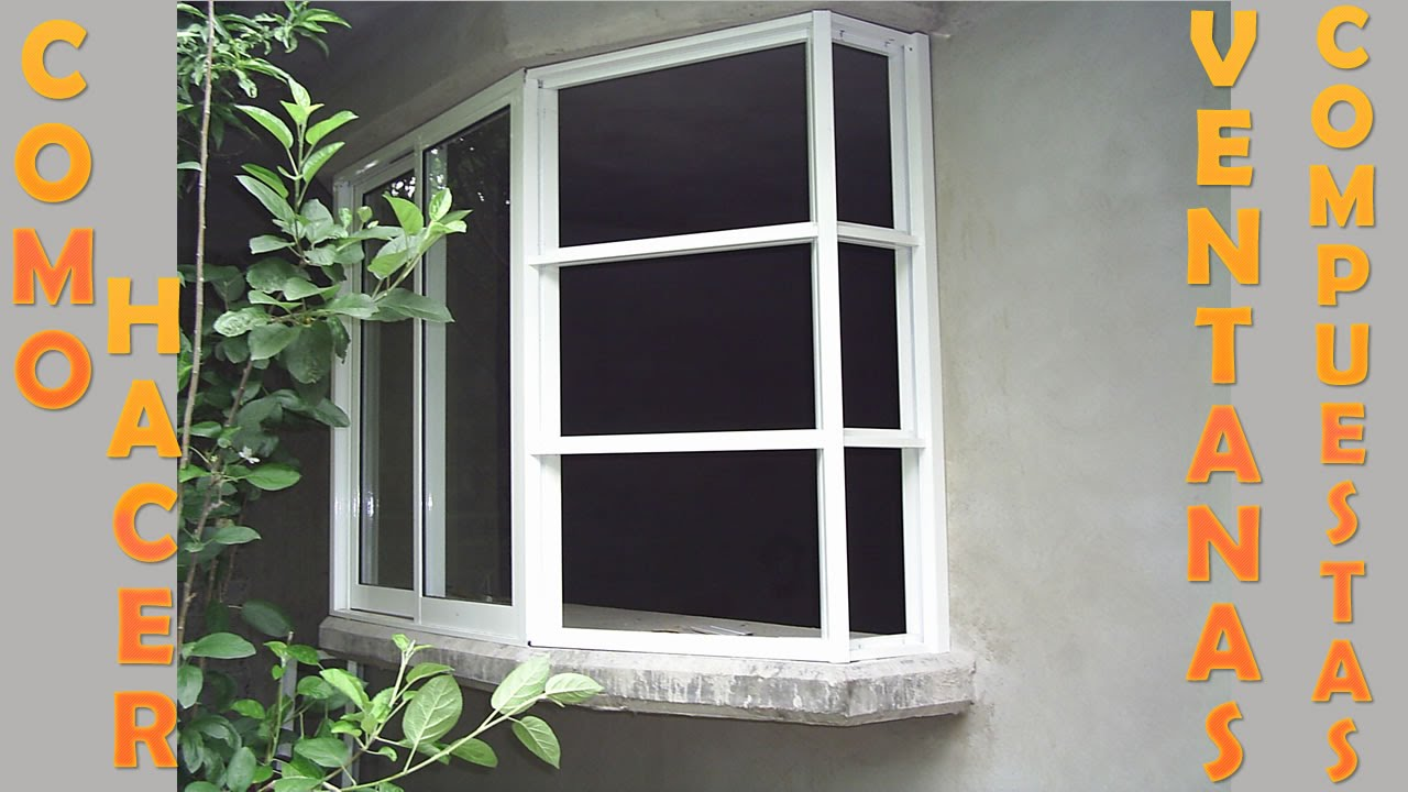Como hacer ventanas compuestas al detalle youtube for Materiales para toldos de aluminio