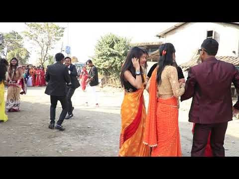 Haraeiya Tharu Girls Dance At Wedding Ceremony(4)