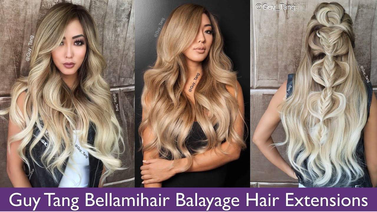 Guy Tang Bellamihair Balayage Hair Extensions Youtube