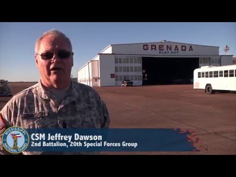 Mississippi National Guard Special Forces Soldiers deploy to Southwest Asia from historic airfield