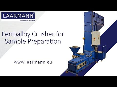 Ferroalloy crushing installation