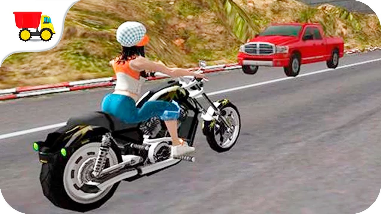 youtube free motorcycle games  Bike Racing Games - Racing Girl 3D - Gameplay Android free games ...