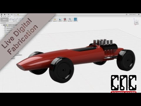Design and 3D CNC 100s of Pinewood Derby Cars in one weekend! - YouTube