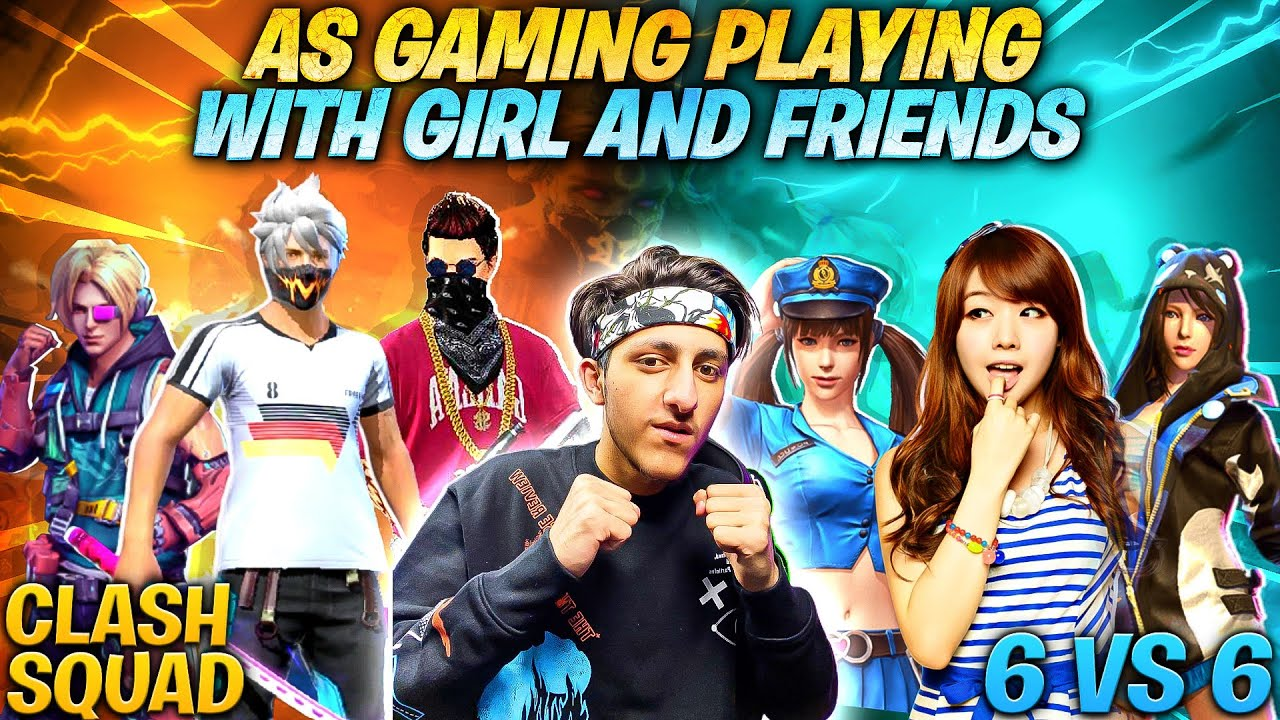 As Gaming Playing Clash Squad Match With Girl And Friends 6VS6 Most Funny Moment In Garena Free Fire