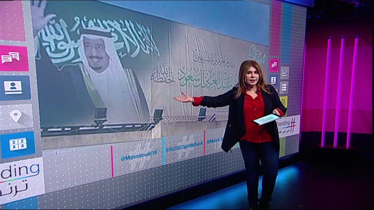 لافتات ضخمة للعاهل السعودي تثير ضجة في تونس وأكثر من ألف مرافق مع الملك