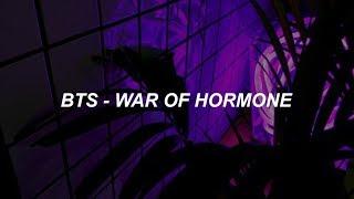 BTS(방탄소년단) _ War of Hormone(호르몬 전쟁) Easy Lyrics