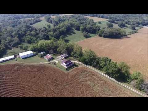 Quesenberry Estate Aerial Tour - Hancock County, IL