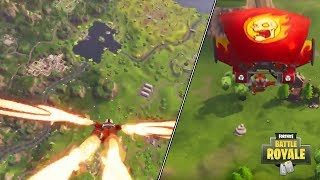 *NEW* Skydiving FX Trails Gameplay from Fortnite in Season 3 Battle Pass and Burning skull Glider