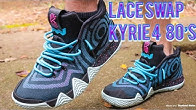 5268f0725c3f LACE SWAP - NIKE KYRIE 4 80 s WITH ON FEET - LACES provided by DMG LACES!!  - Duration  2 minutes