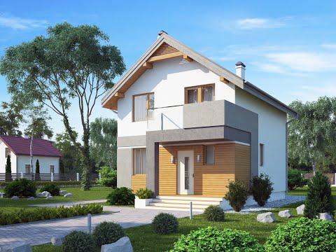 Обзор экономичного дома из газобетона по проекту 15-132