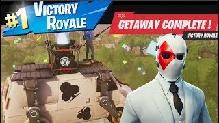 2 Victoire satisfaisante Royale Epic Wins (GamePlay) Avec NEW Outfit 'WILD CARD' (Fortnite)