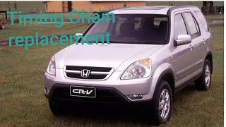 Honda CRV timing chain replacement DIY #crv #rsx #tsx #accord #k20 #k24 #timing chain