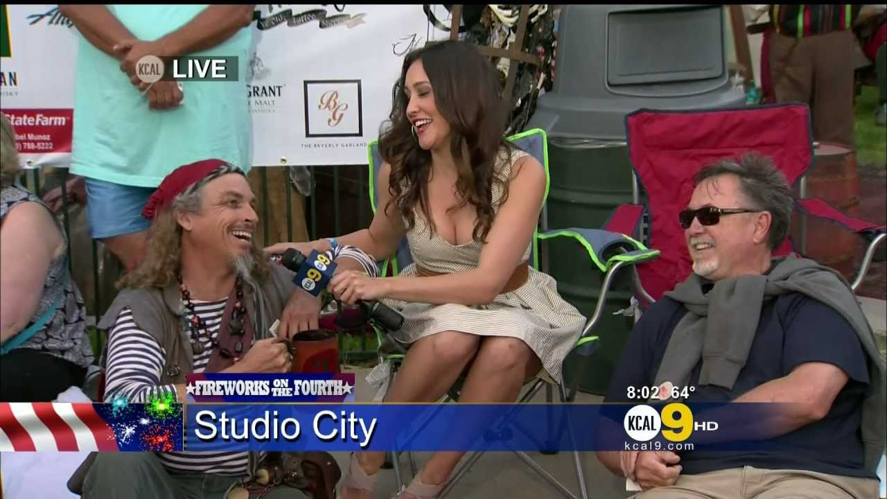 Suzanne Marques 2012/07/04 CBS2/KCAL9 HD; White dress ...