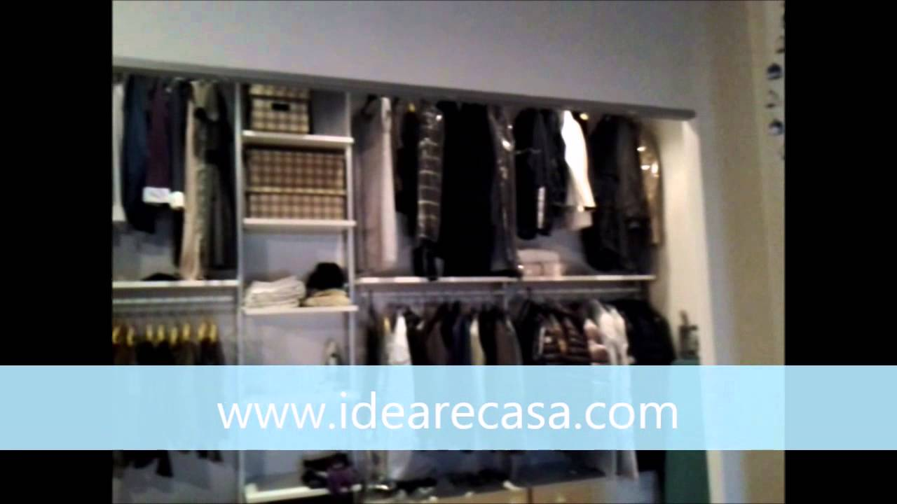 drywall walk-in-closet with sliding doors - youtube - Costruire Cabine Armadio In Cartongesso