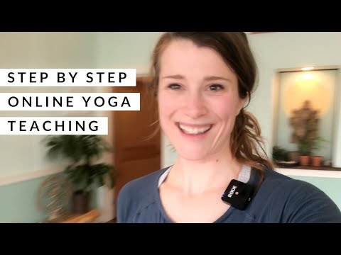 Step-by-step Teaching Online Yoga