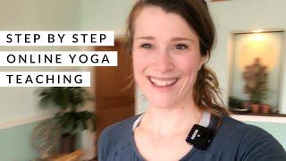Step-by-step teaching online yoga