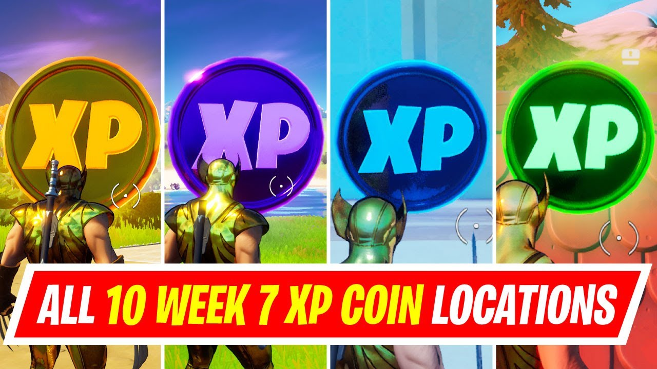 Download NEW All 10 WEEK 7 XP COINS LOCATIONS IN FORTNITE SEASON 4 - WHERE TO FIND WEEK 7 XP COINS