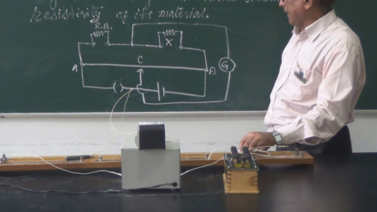 Resistance of given wire using meter bridge Class 12th - YouTube