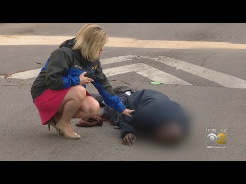 CBS 2's Dana Kozlov Rushes To Help Overdose Victim While Working On Drug Epidemic Story