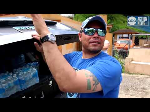 Michael Paluska helps deliver water in Puerto Rico   Digital Short