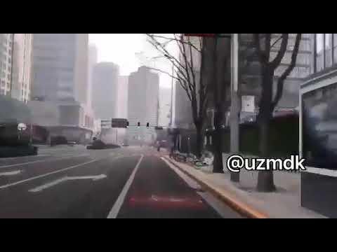 Так сейчас выглядят улицы Пекина.Город, где проживает почти 22 млн человек