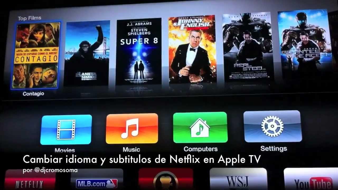 Cambiar idioma y subtitulos de Netflix en Apple TV - djcromosoma video - YouTube