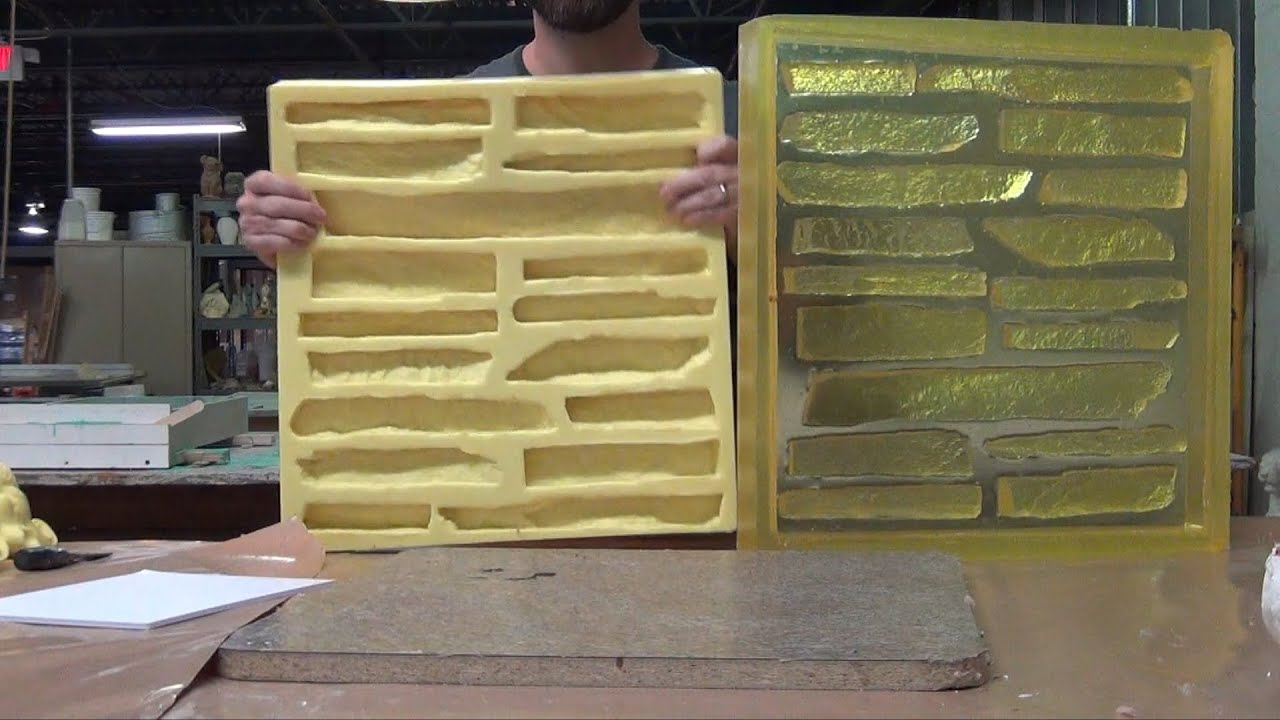 Concrete Mold Making Veneer Stone Master Mold Youtube