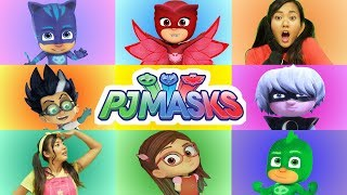 Ellie Plays the PJ Masks Giant Smash Game Heroes vs Villains | Toy Game Show