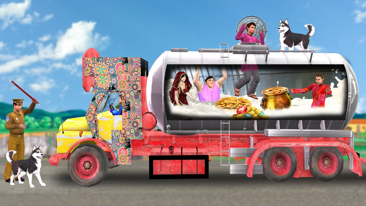 लालची दूध ट्रक वाला Lalchi Milk Truck Funny Comedy Story हिंदी कहानिय Hindi Kahaniya Comedy Video
