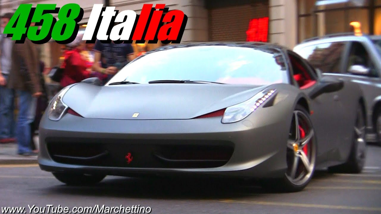 Unique Matte Grey/Red Ferrari 458 Italia! - YouTube