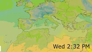 Mediterranean Surface Temperature Weather Forecast HD: 17 Nov 2019 [Updated at 1200 hours UTC]