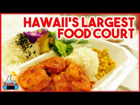 Amazing Food Court in Hawaii (MAKAI MARKET-ALA MOANA SHOPPING CENTER)