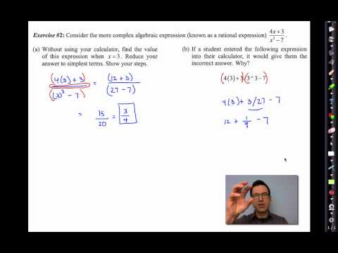 Common Core Algebra II Unit 1 Lesson 3 Common Algebraic