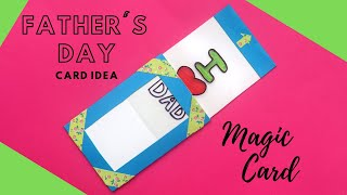 DIY Fathers Day Card | Color Changing Magic Card Tutorial | Fathers Day Gift Ideas