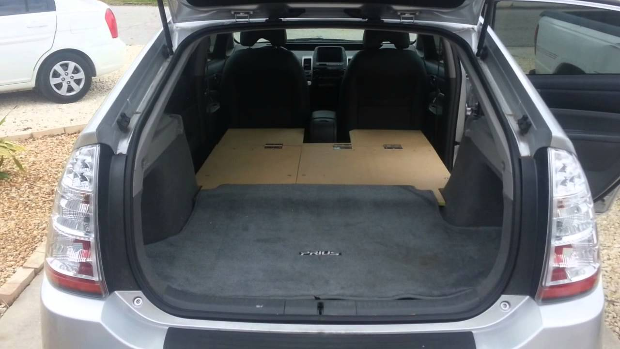 2 Prius Camping Bed Rig And Storage Youtube