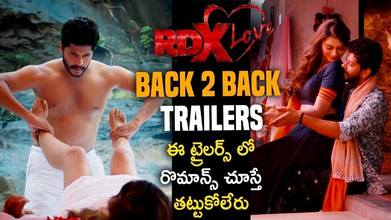 RDX Love Movie Release Trailers | Paayal Rajput, Tejus | RDX Love Release BackTo Back Trailer