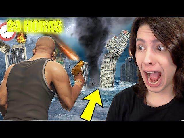 Tentando SOBREVIVER 24 HORAS a DESASTRES NATURAIS no  GTA 5!
