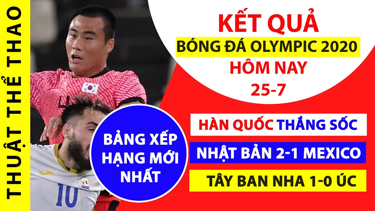 Kết quả bóng đá Olympic Tokyo | Hàn Quốc 4-0 Romania | Nhật Bản 2-1 Mexico | Bảng xếp hạng mới nhất