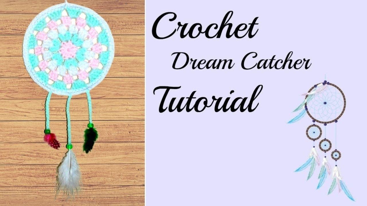 Crochet Dreamcatcher Tutorial Crochet Jewel Youtube