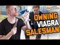 Steve Hofstetter torments Viagra salesman (animated)