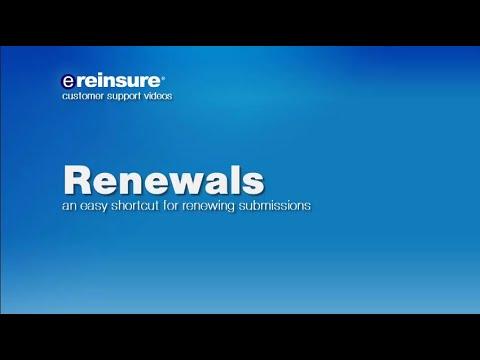 eReinsure - Renewals