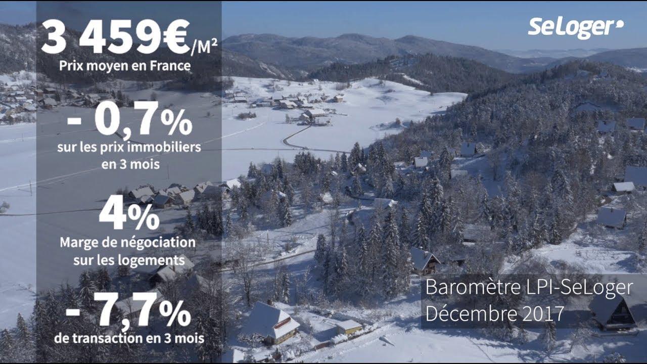 Barometre Les Prix Immobiliers En France Decembre 2017 Youtube