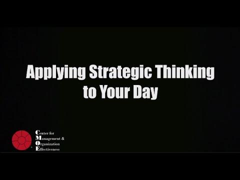 Applying Strategic Thinking