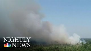 Staggering Number Of Fires Ravaging Amazon Rainforest | NBC Nightly News