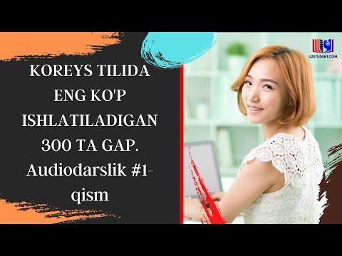 KOREYS TILIDA ENG KO'P ISHLATILADIGAN 300 TA GAP. Audiodarslik #1-qism