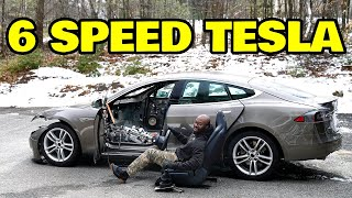 Installing a 6 Speed manual transmission in a Tesla