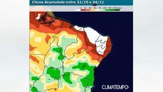 Condições de chuva aumentam pelo interior do Nordeste