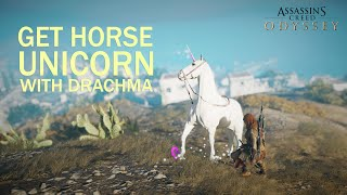 ASSASSINS CREED ODYSSEY Walktrought - How to buy Horse Unicorn skin with drachma